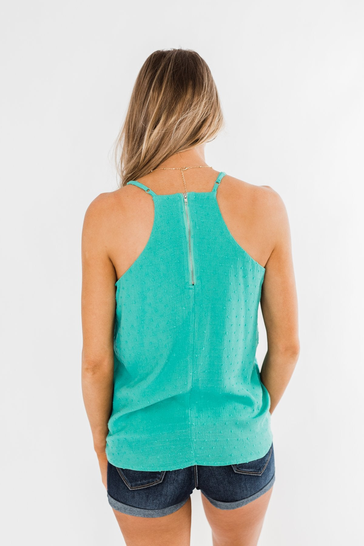 Make You Notice Me Racerback Tank Top- Deep Teal