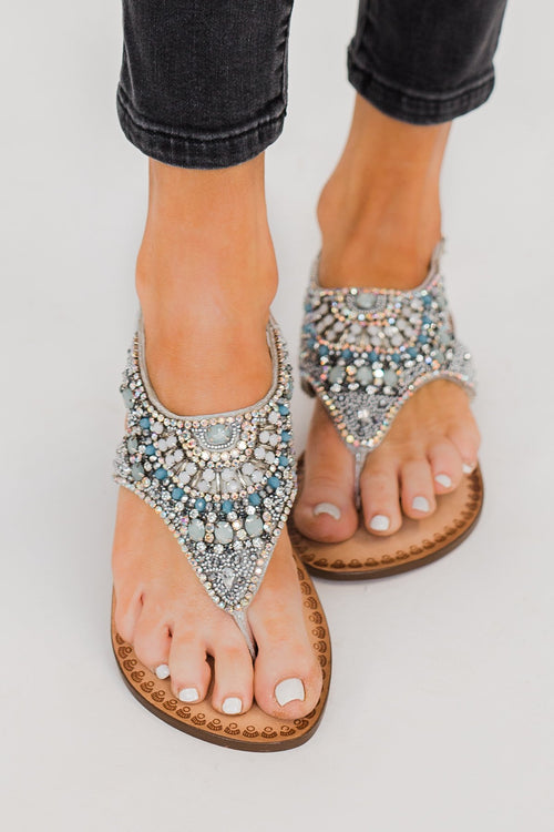 Naughty Monkey Ice Berg Sandals- Silver