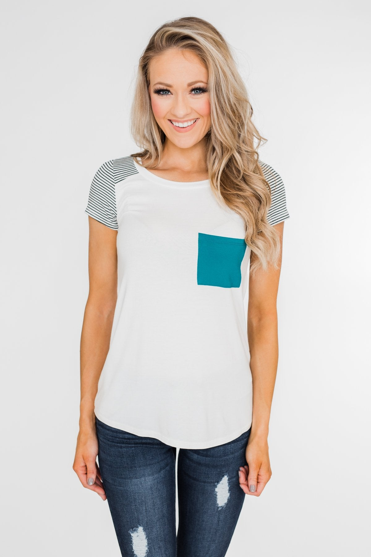 Meet Me Here Short Sleeve Top- Charcoal