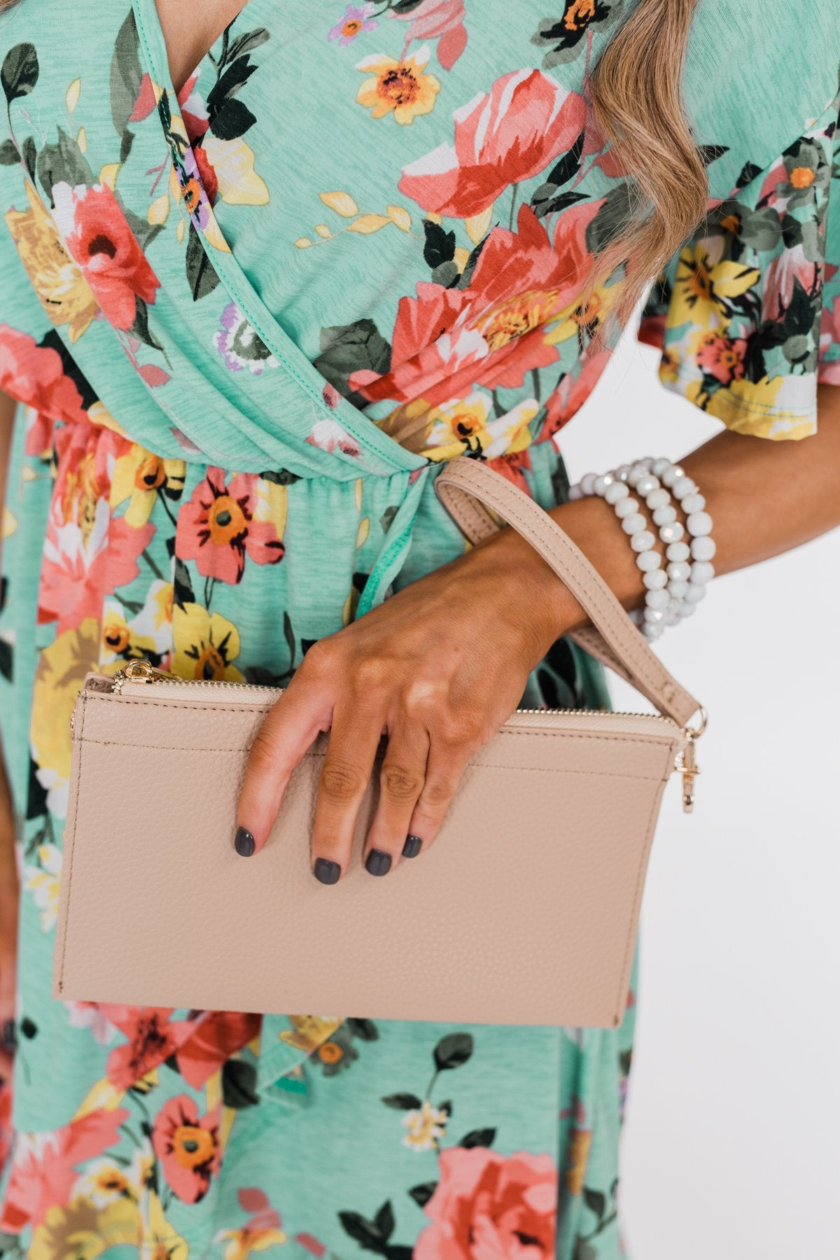 Suitable For You Clutch- Light Beige