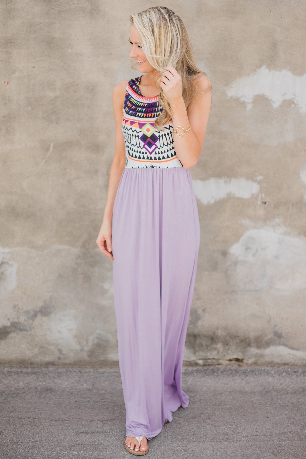 A Night in Paradise Maxi Dress- Lavender