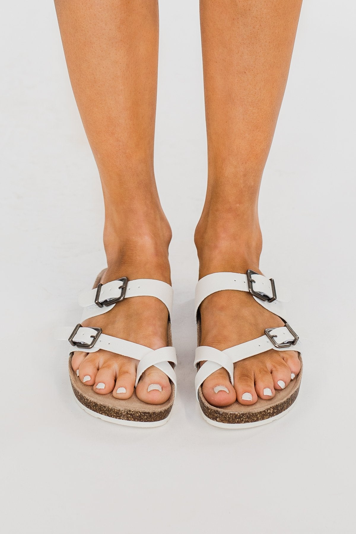 Sugar Xporter Sandals- White Smooth