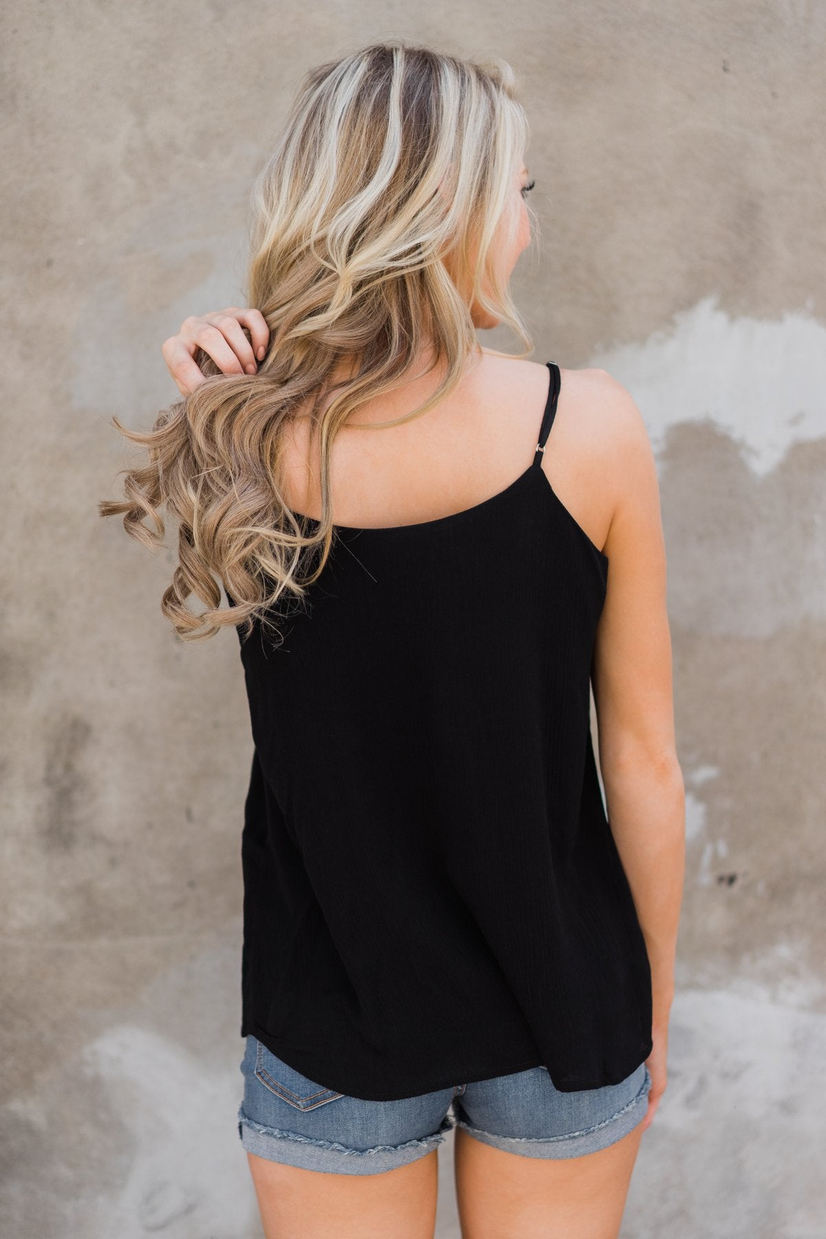 Don't Have to Try Tank Top - Black