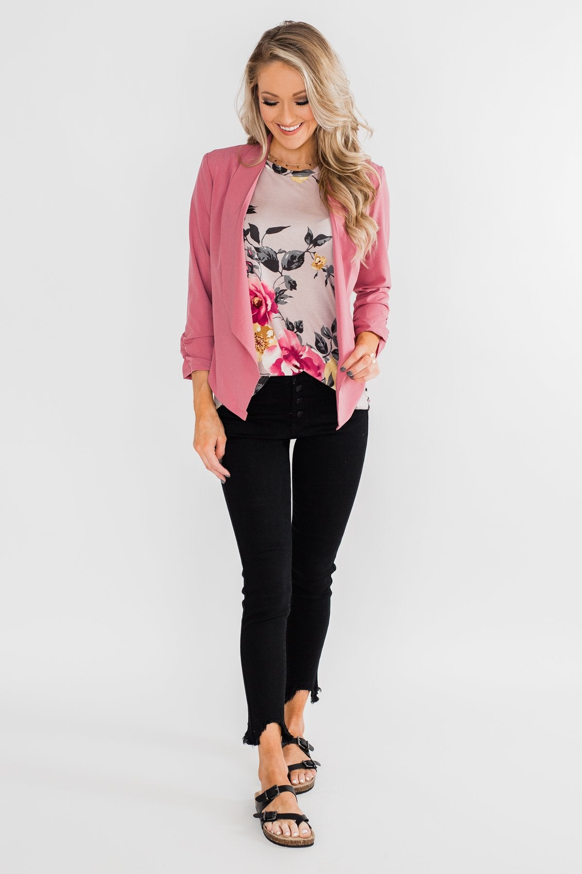 Keep It Professional Blazer- Dark Mauve