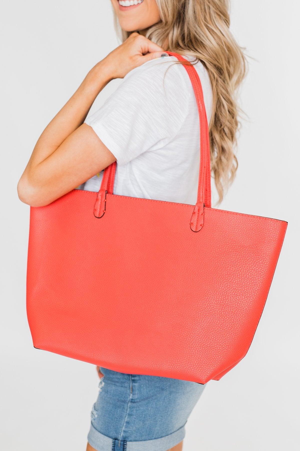 Bring on the Day Zipper Purse- Hot Pink