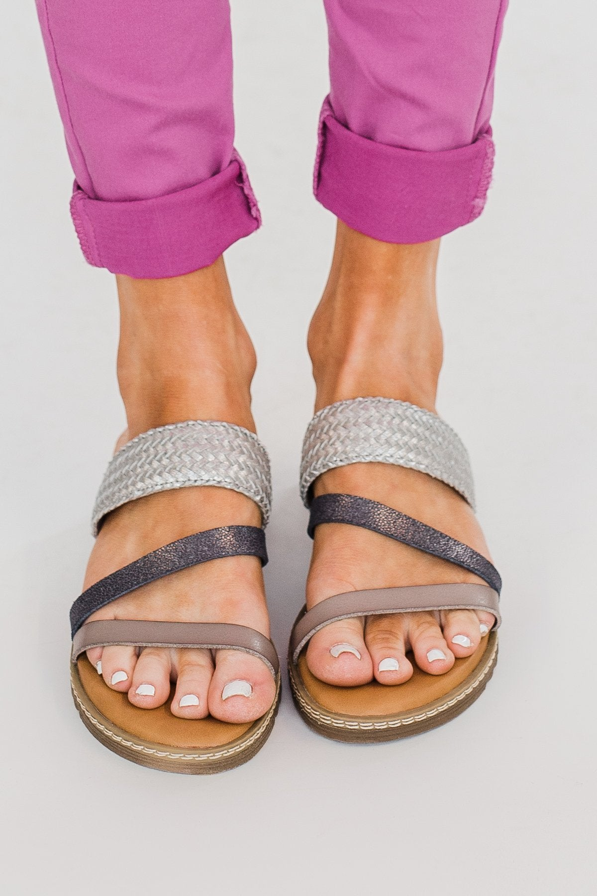 Blowfish Otsi Sandals- Steel & Pewter