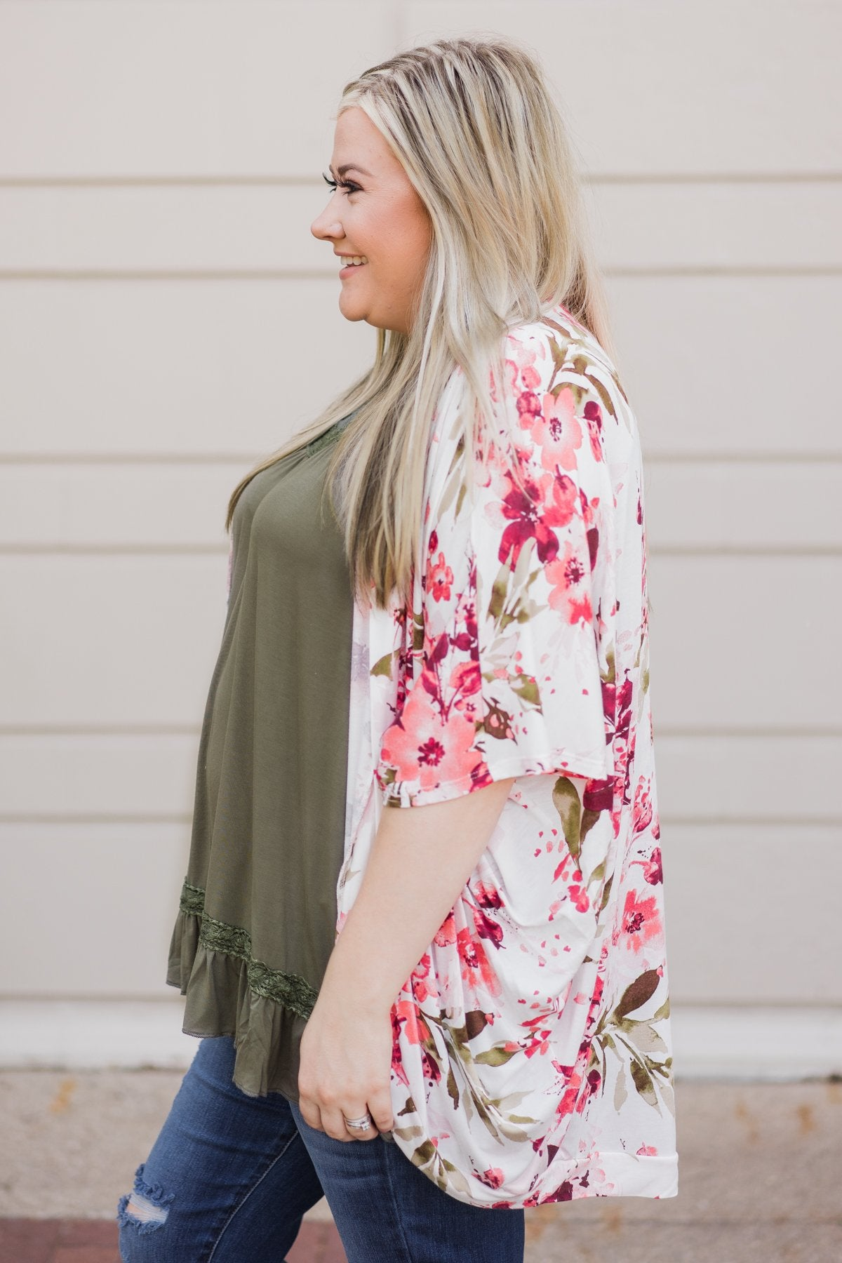 Coming Home Lace Tank- Olive