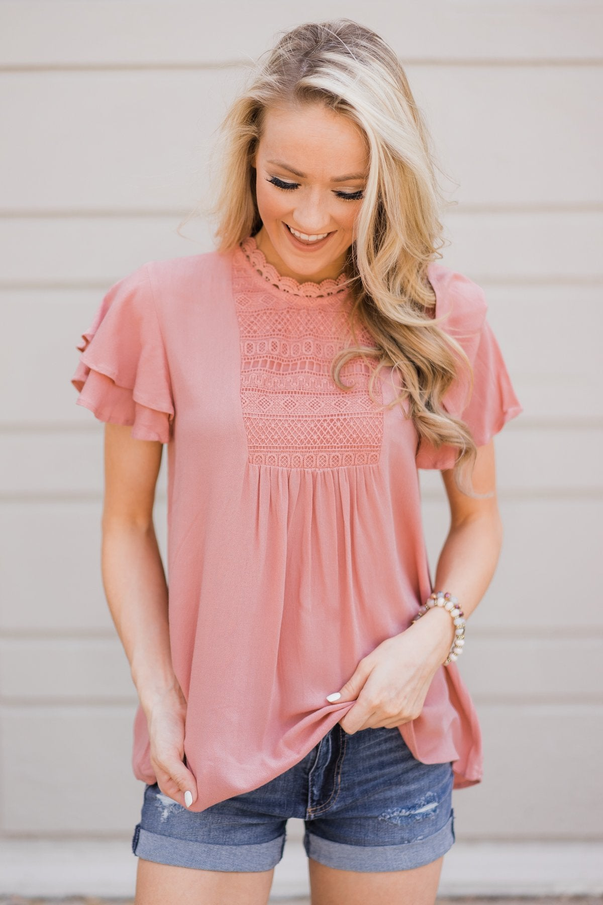 cf4c8613115ef3 Sweet Summer Time Top- Dusty Rose – The Pulse Boutique