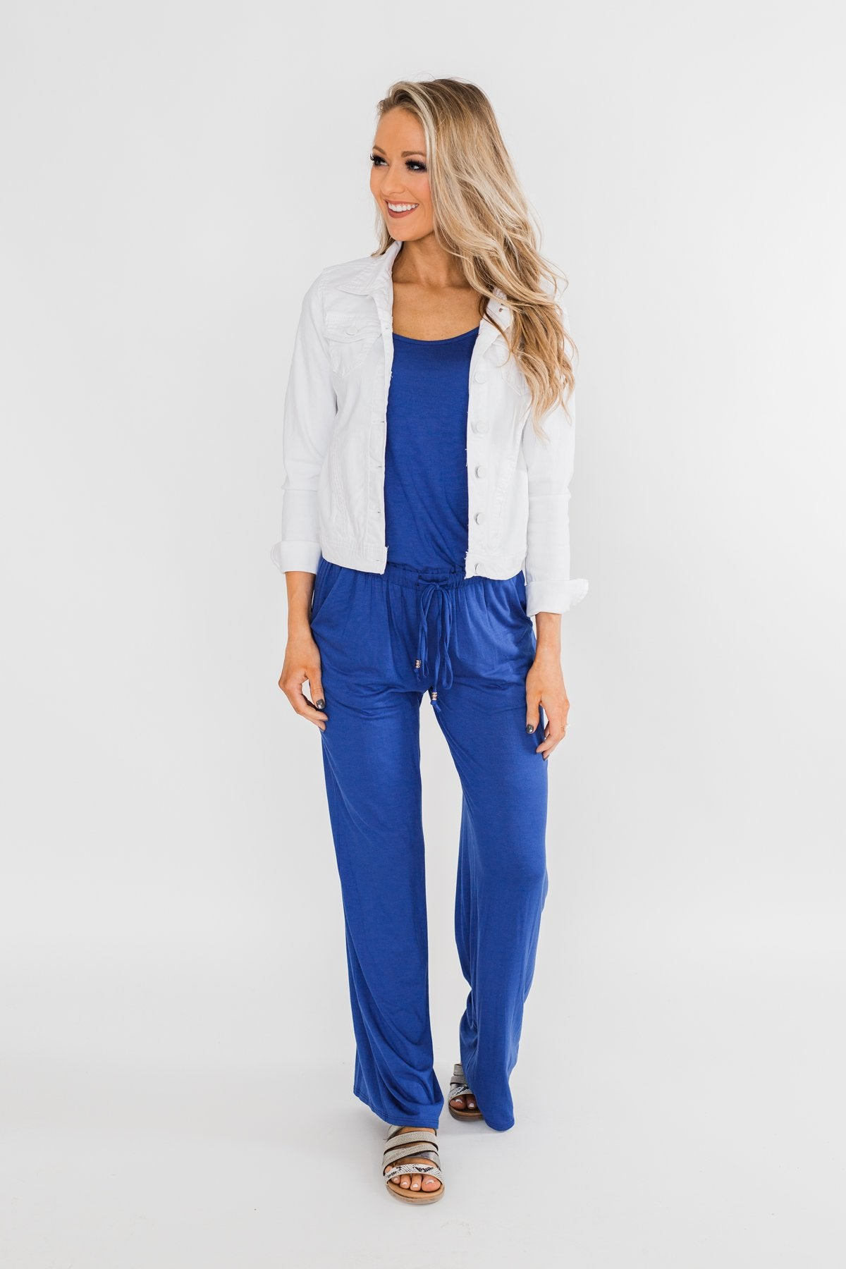Drawstring Jumpsuit Royal Blue