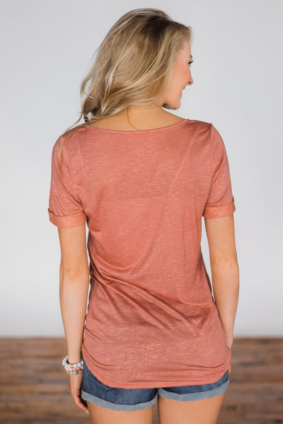Enough for You Criss Cross Top ~ Rustic Orange