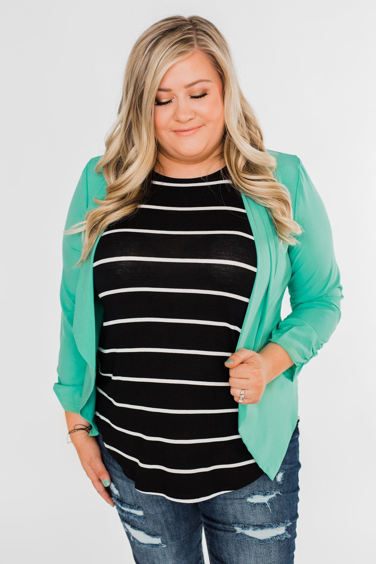 Keep It Professional Blazer- Mint
