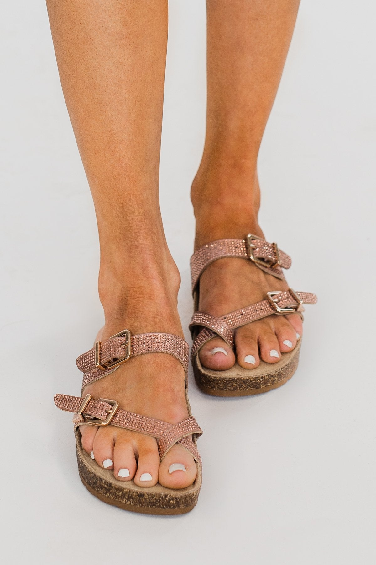 Sugar Xporter Sandals- Blush Rose Gold
