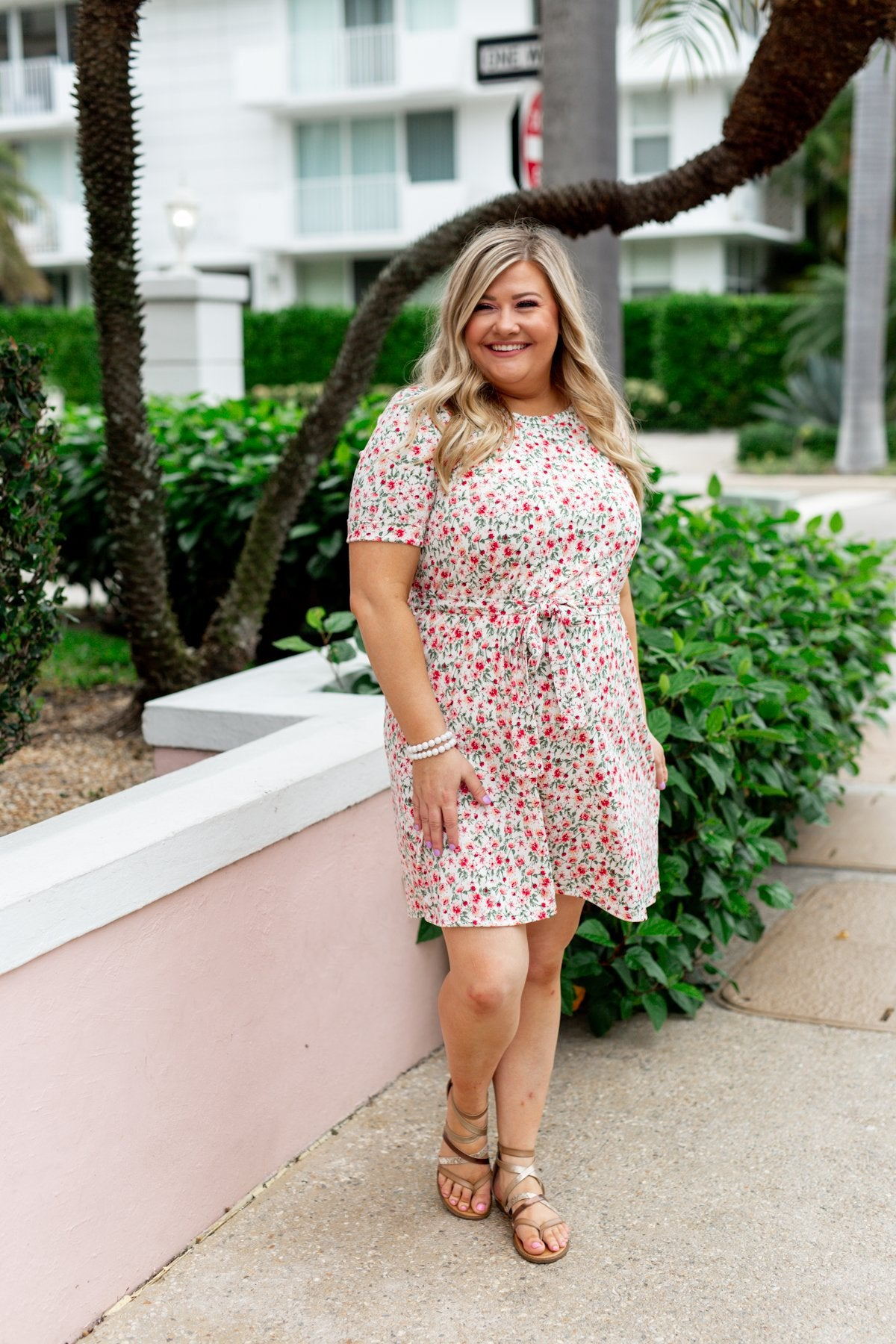 Taught My Heart To Love Floral Dress- Ivory