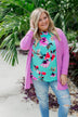 Time To Be Alive Drape Cardigan- Orchid