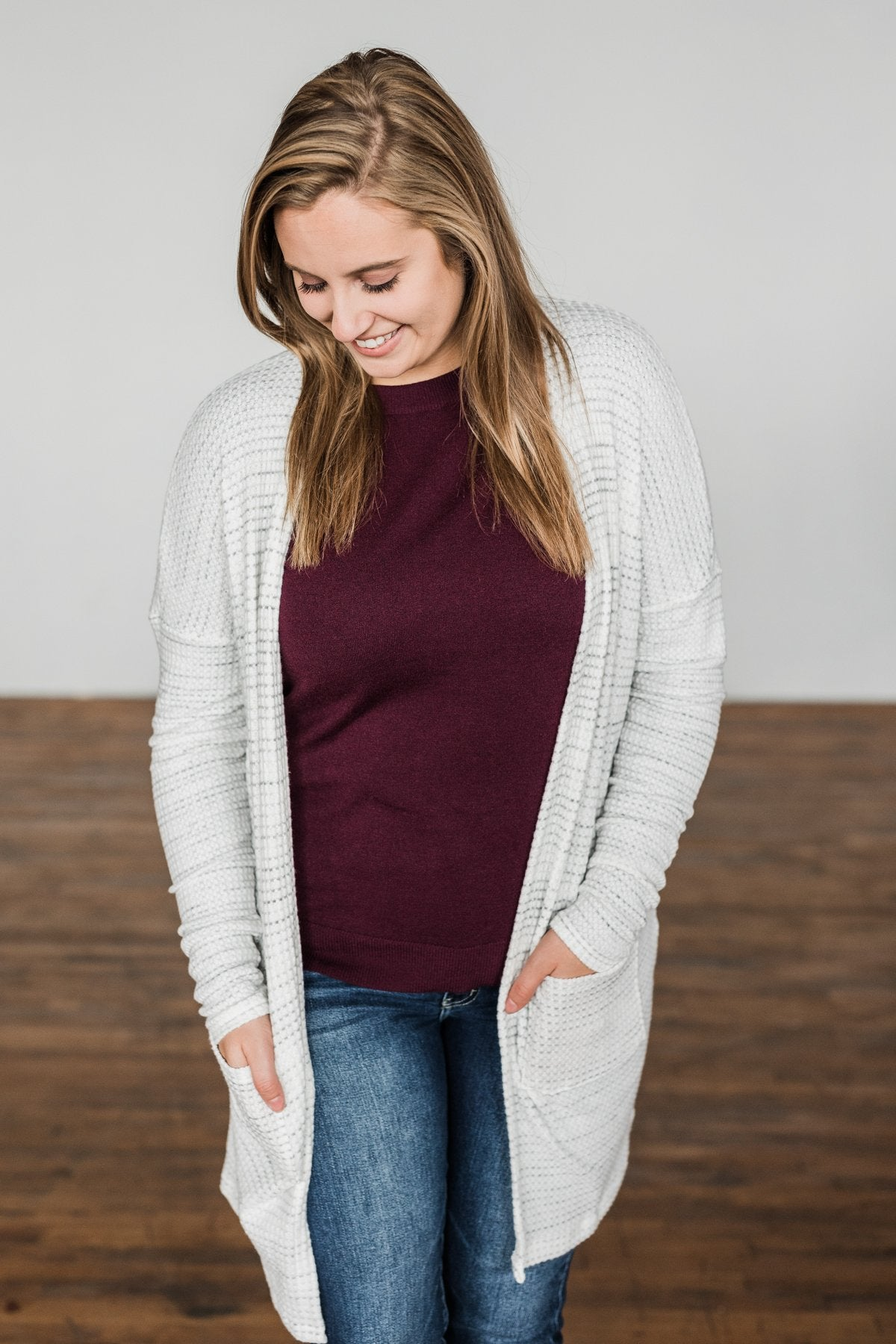 Into The Stars Lightweight Cardigan- Ivory & Grey