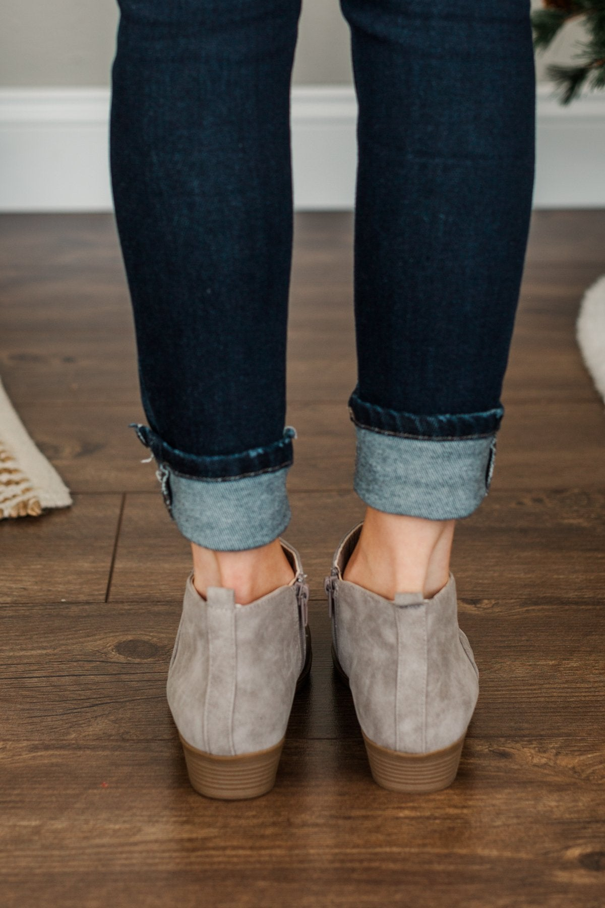 Sugar Trixy Booties- Gray