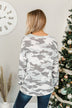 Good Times To Come Pullover Top- Grey Camo