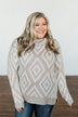 Peace Of Mind Slouchy Turtle Neck Sweater- Oatmeal