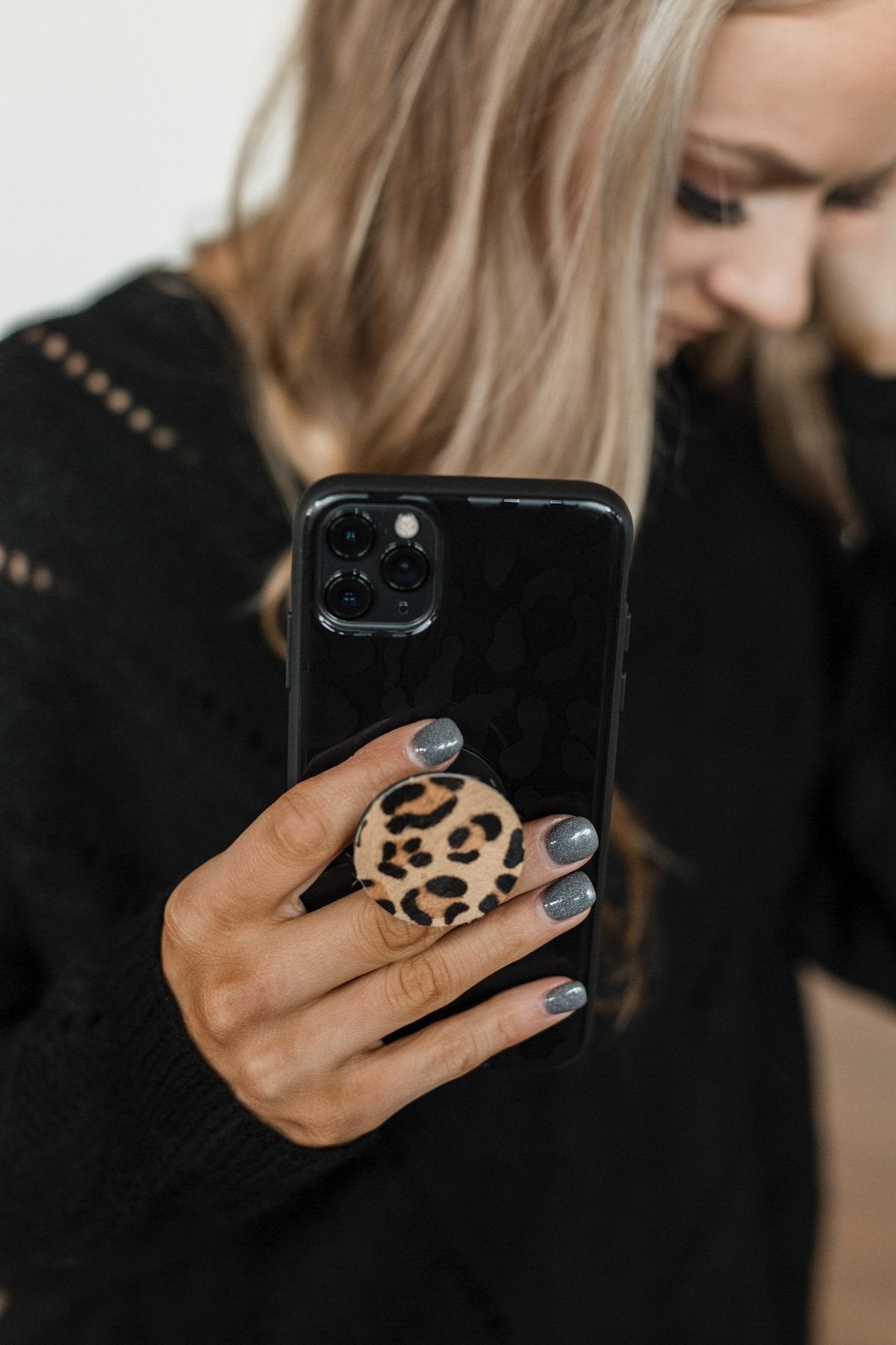 Leopard Print Phone Grip