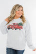 Pulse Exclusive Festive Graphic Pullover- Heather Grey