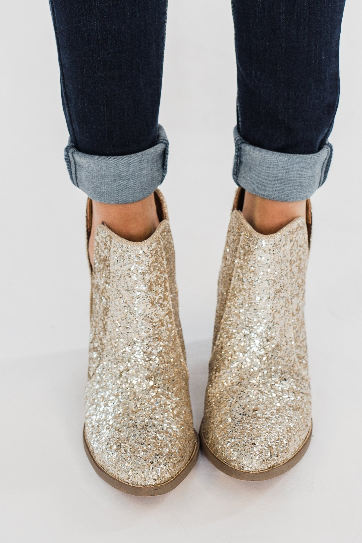 Not Rated Fiera Booties- Gold