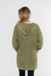 Cozy For The Season Hooded Cardigan- Olive