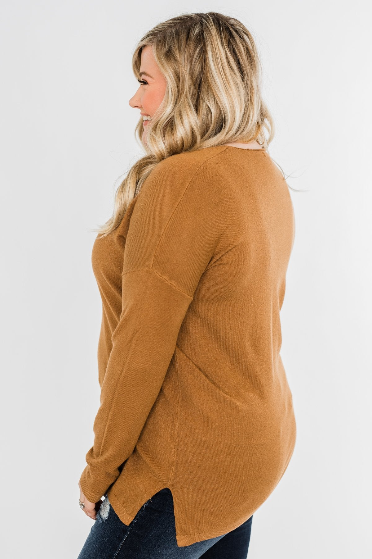 Truly Yours Sweater- Dark Camel