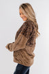 No Turning Back Leopard Sherpa- Brown