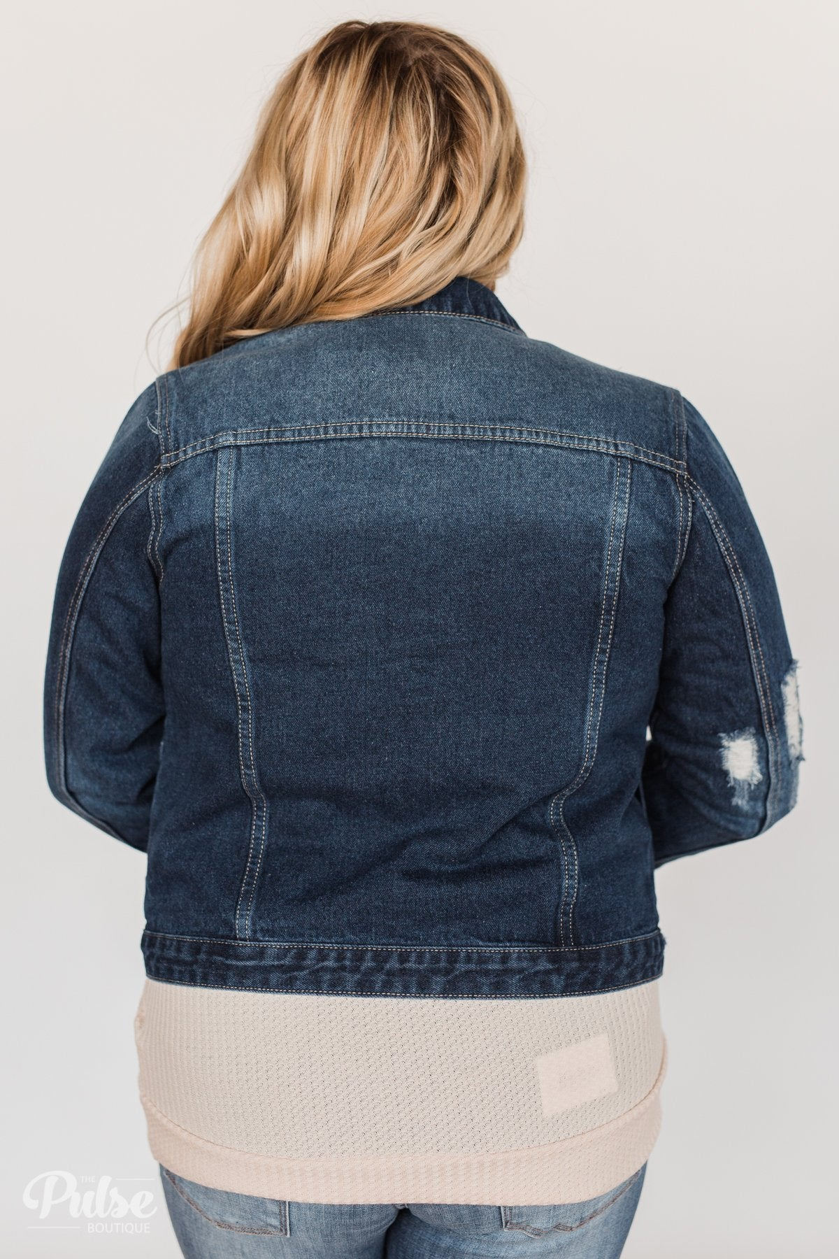 f163fcdc1 Kan Can- Dark Denim Distressed Jean Jacket – The Pulse Boutique