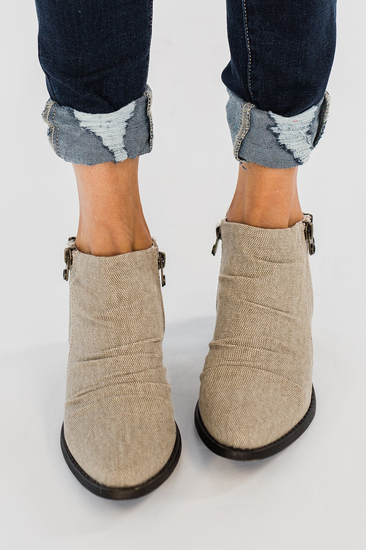 Blowfish Wander Booties- Light Taupe