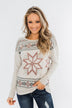 Winter Wonderland Thermal Top- Beige
