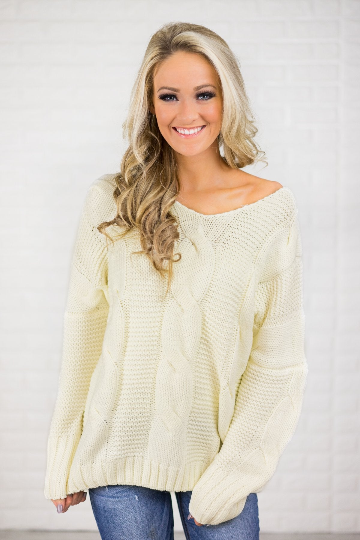 Chunky Oversized Sweater - Ivory