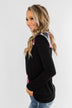 Dancing In The Dark Quarter Zip Pullover- Black