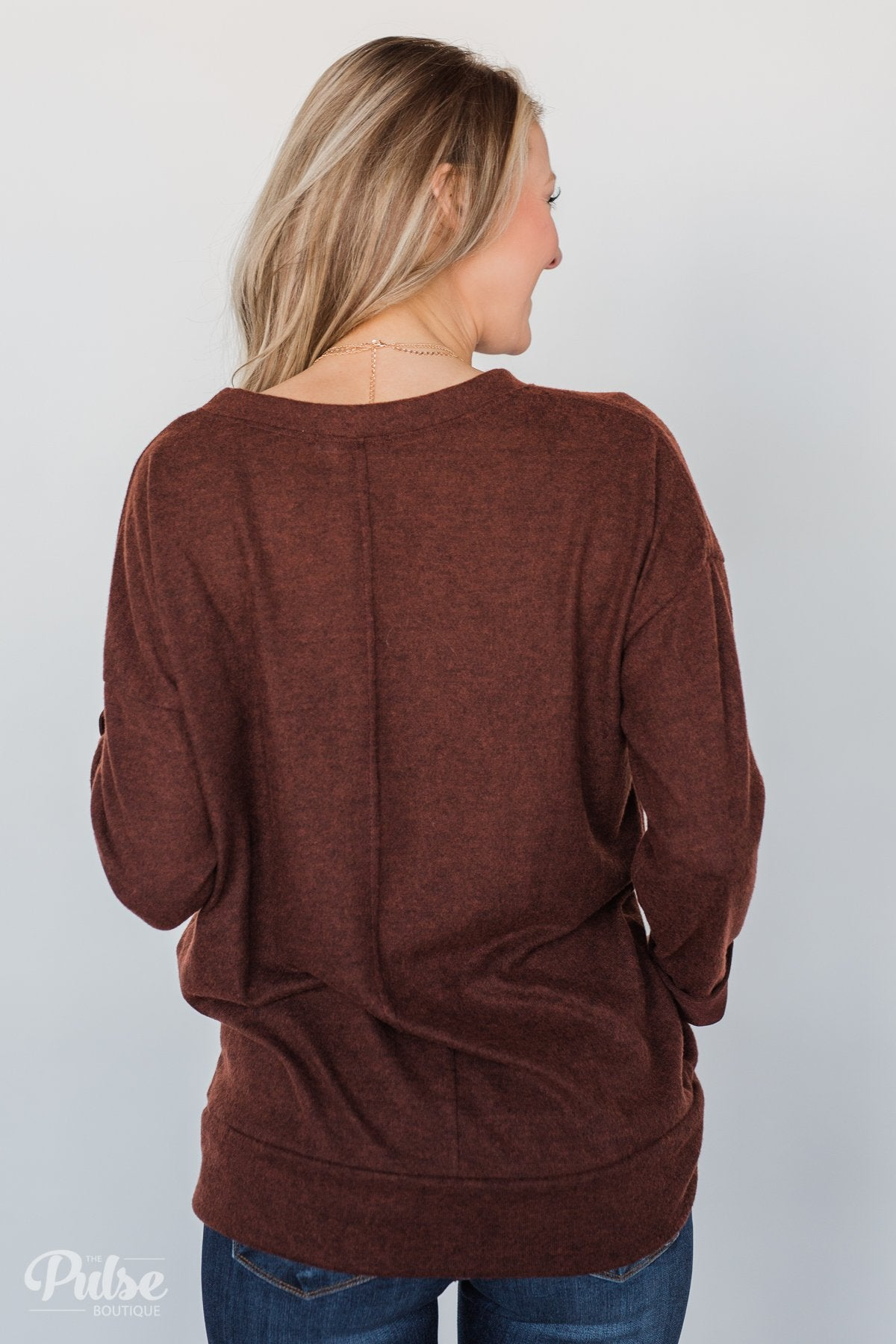 Lead the Way Pullover Sweater- Rust
