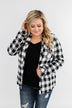 Warm Me Up Button Up Jacket- Black & White
