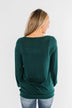 Dance The Day Away Criss Cross Top- Emerald Green