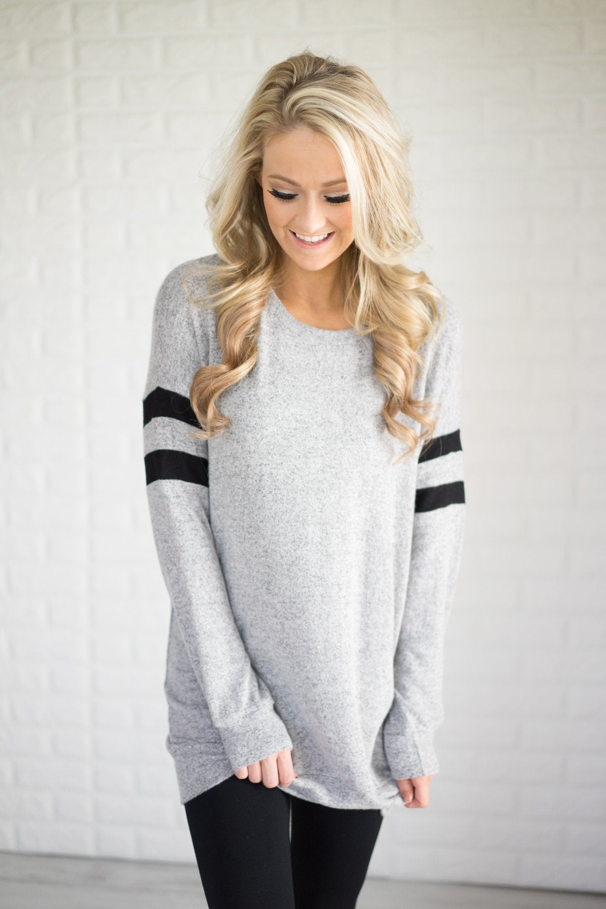 Always Cherished Heather Grey Top