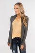 Lots of Love Knit Cardigan- Charcoal