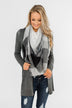 Lightweight Blanket Scarf- Black & Grey