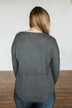 Align With You Thermal Knit Top- Charcoal