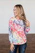 Feels Like A Dream Tie Dye Pullover Top- Rainbow