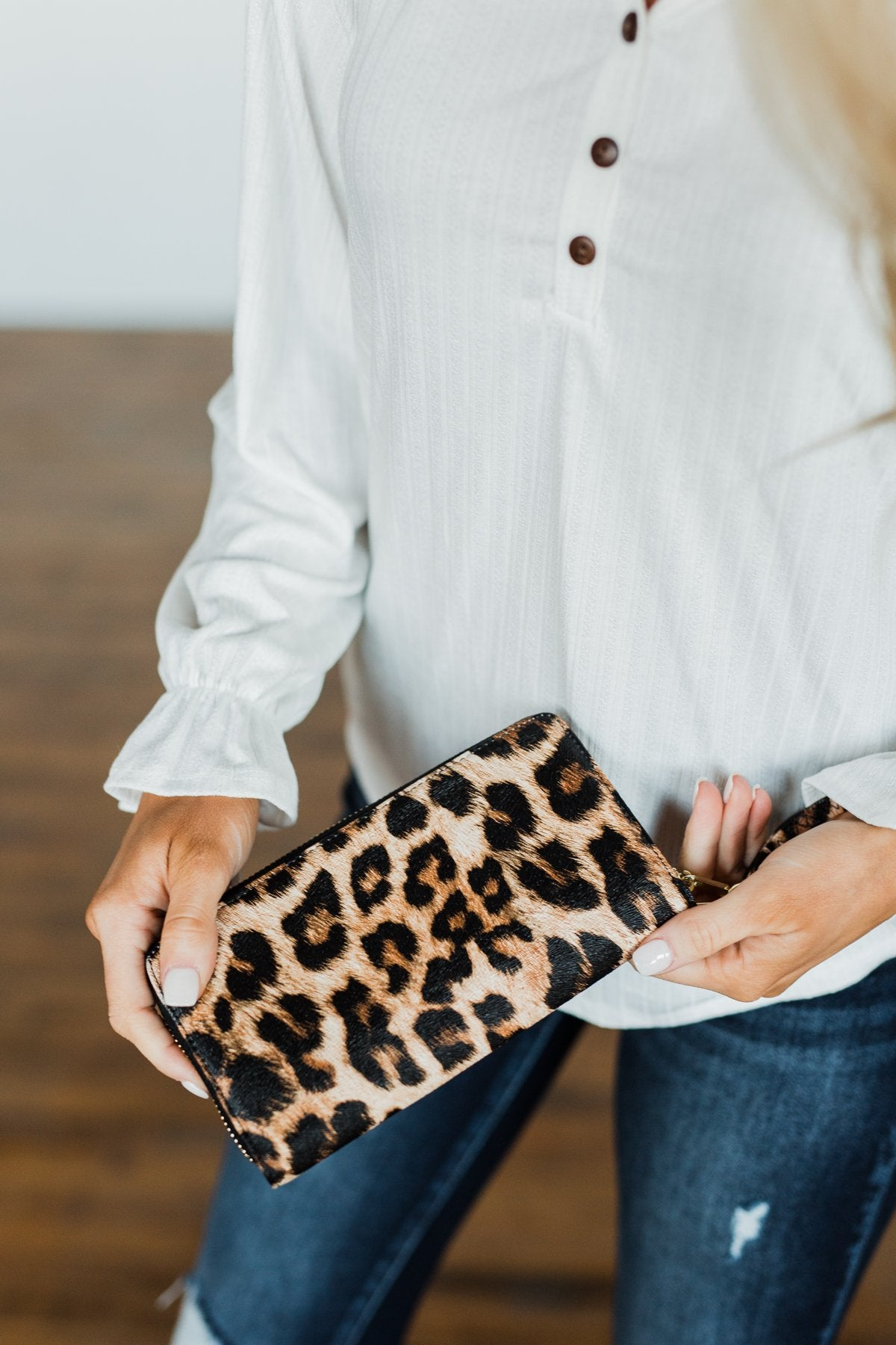 Day to Day Essential Wallet- Leopard Print