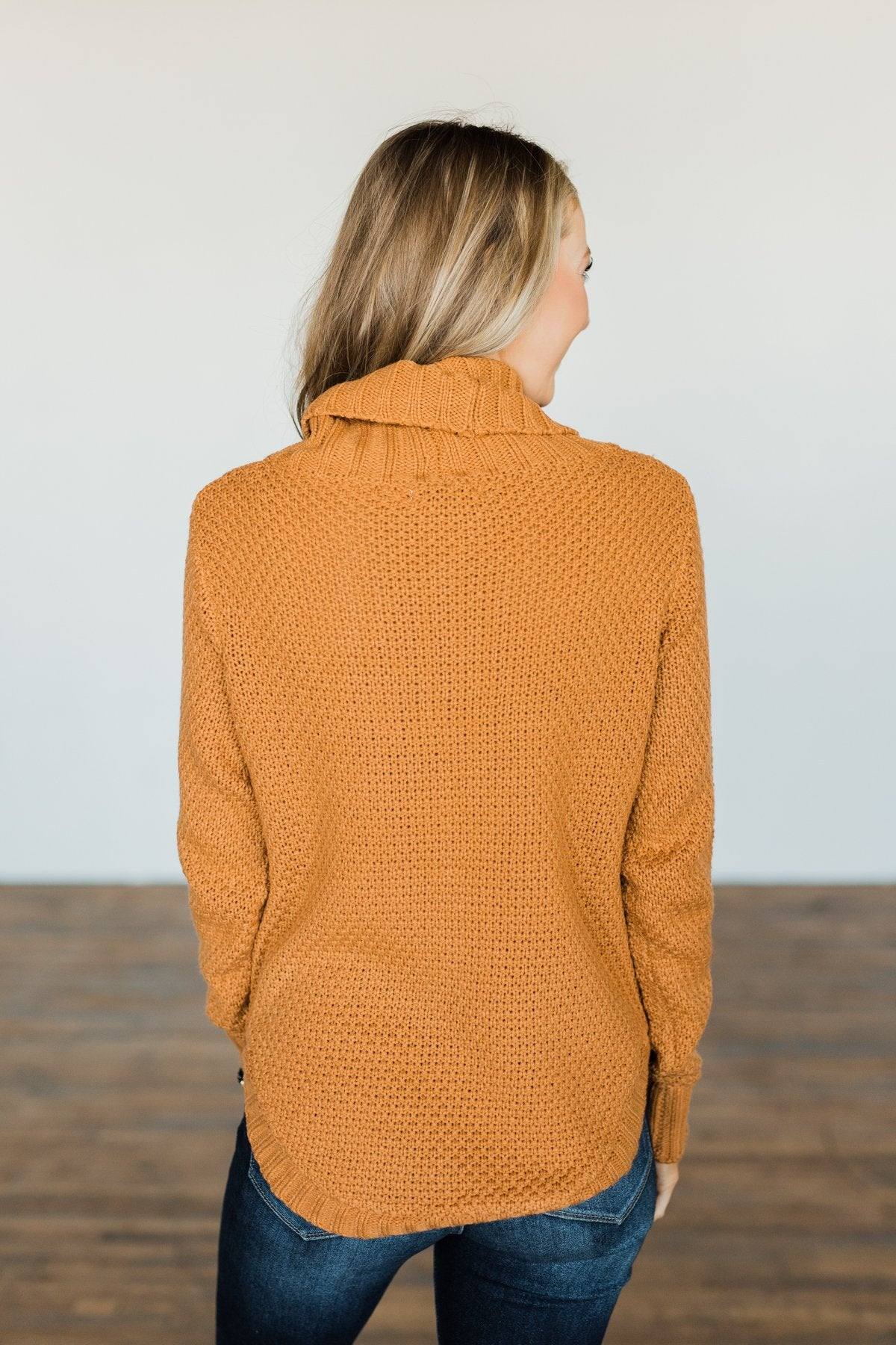 Caught In A Daydream Turtle Neck Sweater- Camel