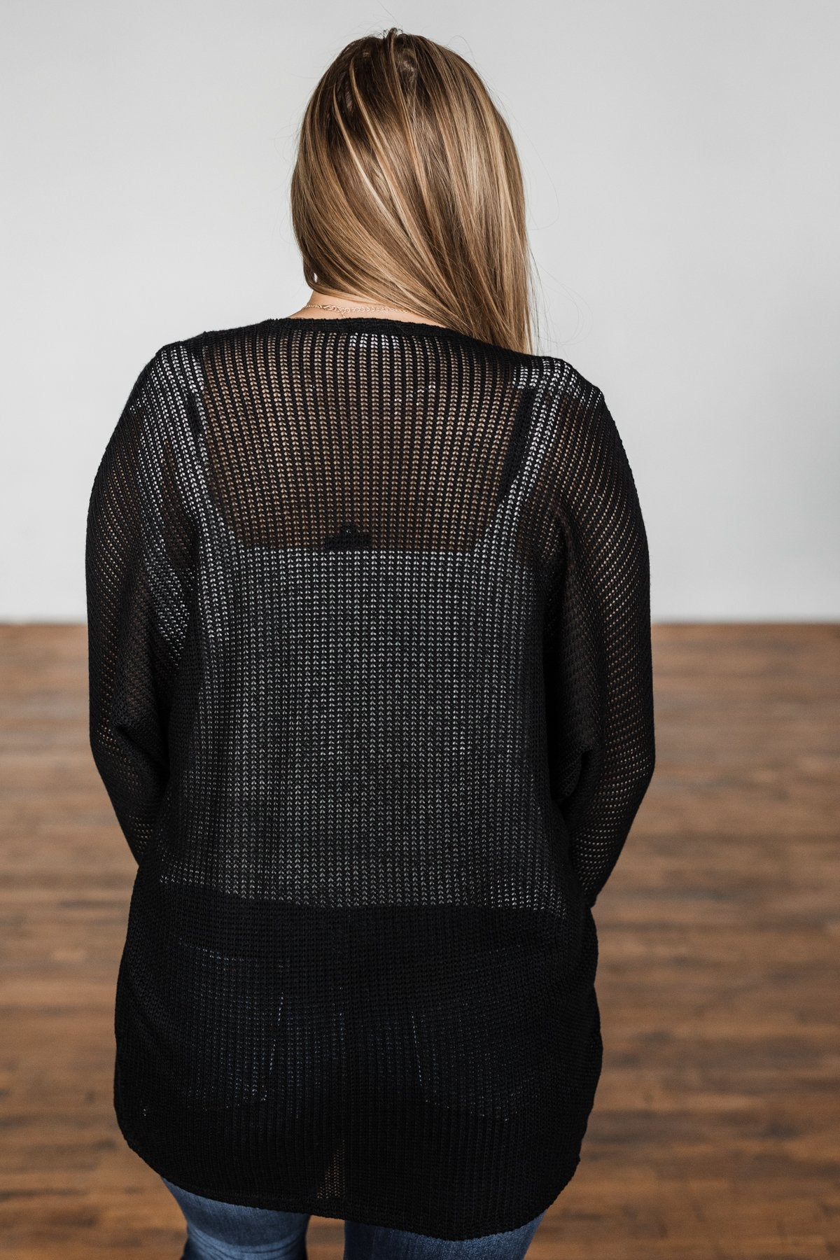 Sincerely Yours Knit Cardigan- Black
