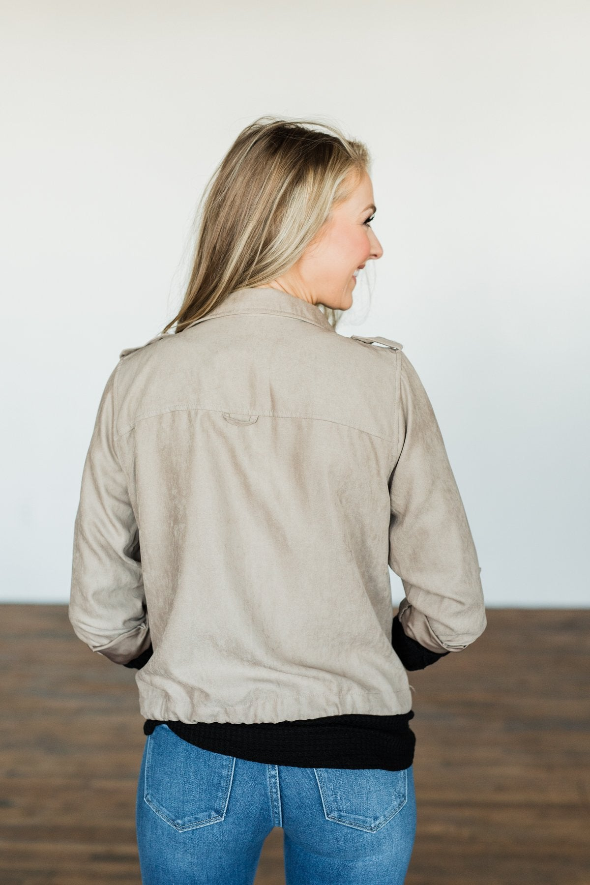 Around The World Lightweight Jacket- Taupe