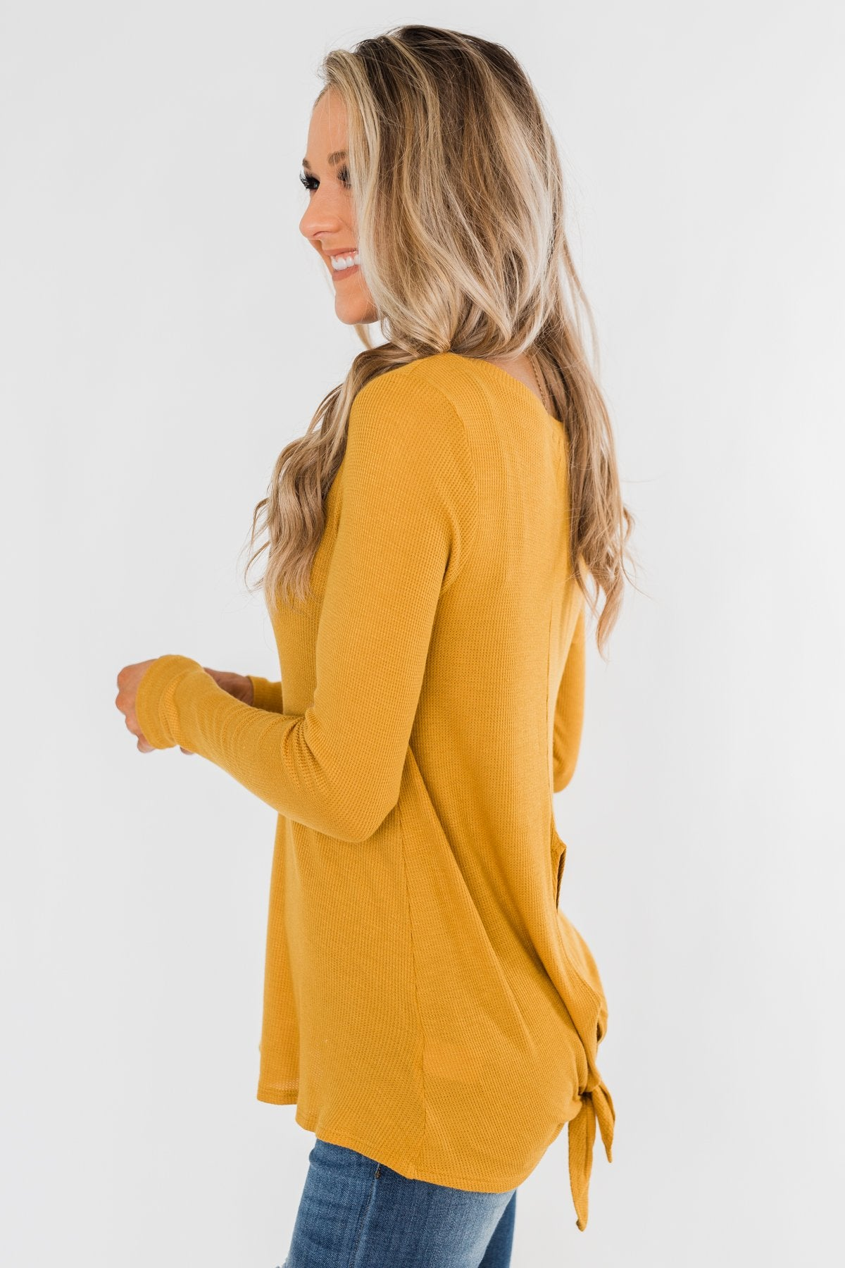 The Best I Can Long Sleeve Top- Mustard