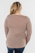 Something More Exciting Cold Shoulder Top- Mocha