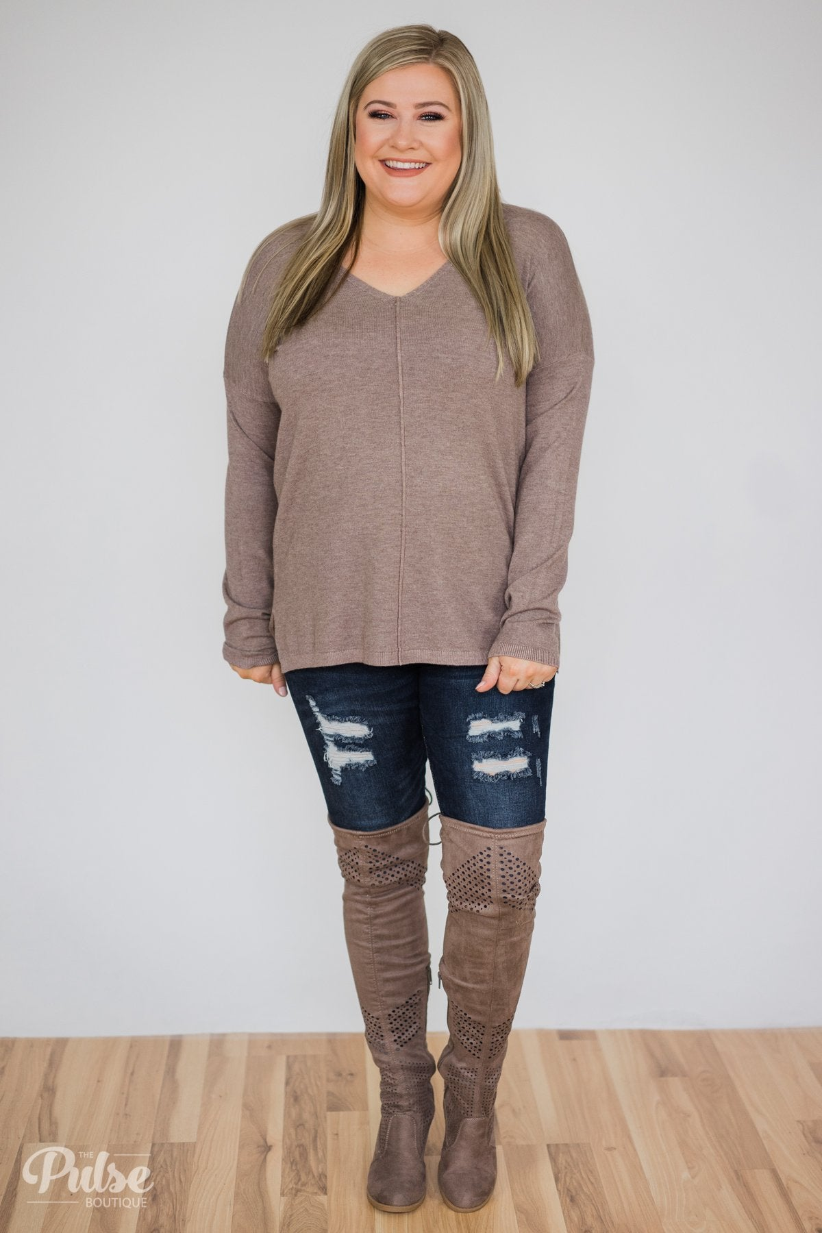 Truly Yours Sweater- Dark Mocha