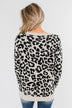 Stay Fierce Leopard Knit Sweater- Cream