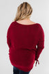 Love Me Forever Front Twist Top- Cranberry
